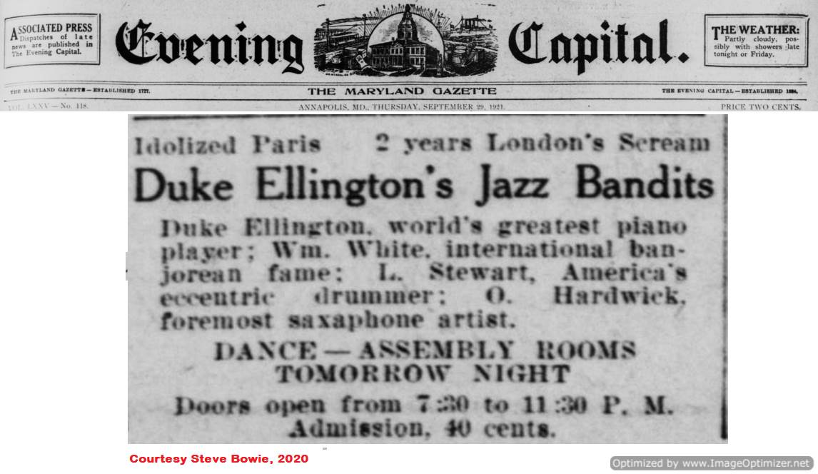 September 29 1930 ad for Duke Ellington's Jazz Bandits