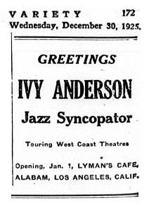 <i>Variety</i> 1925-12-30 p.172 - small ad